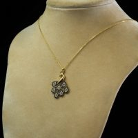 My Jewels 18K Pre-owned Item Rolo Chain with Crucifix